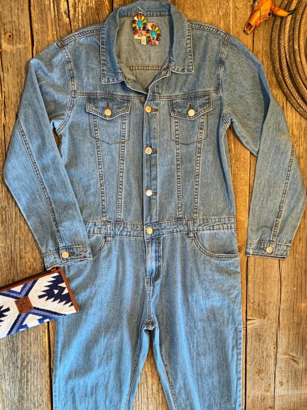 The Cowboy's Sweetheart: Denim Jumpsuit