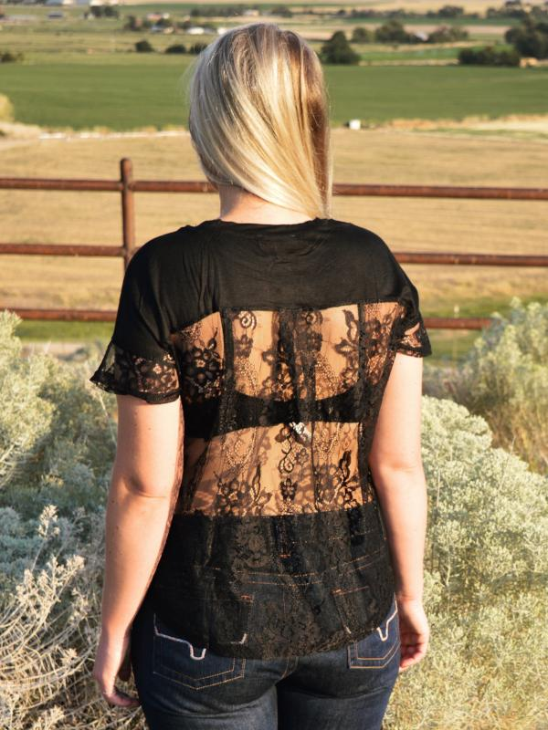 Two Faced: Laced Back Blouse