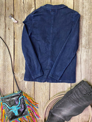 The Hailee: Denim Blazer