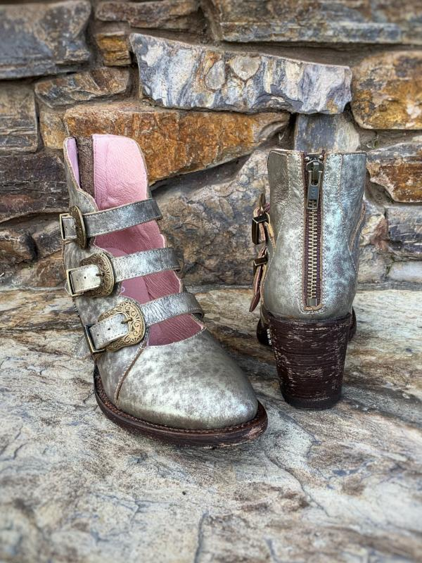 In a Tizzy: Metallic Booties