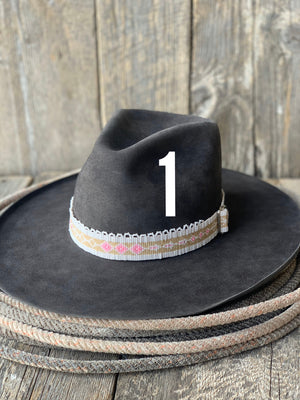 Hand Beaded Hat Bands