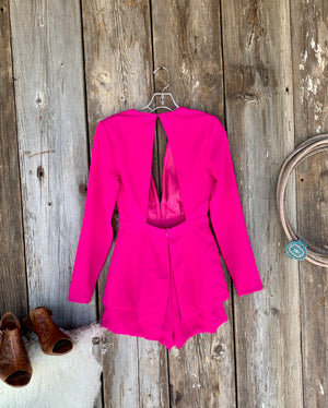 Pink Night: Blazer Romper