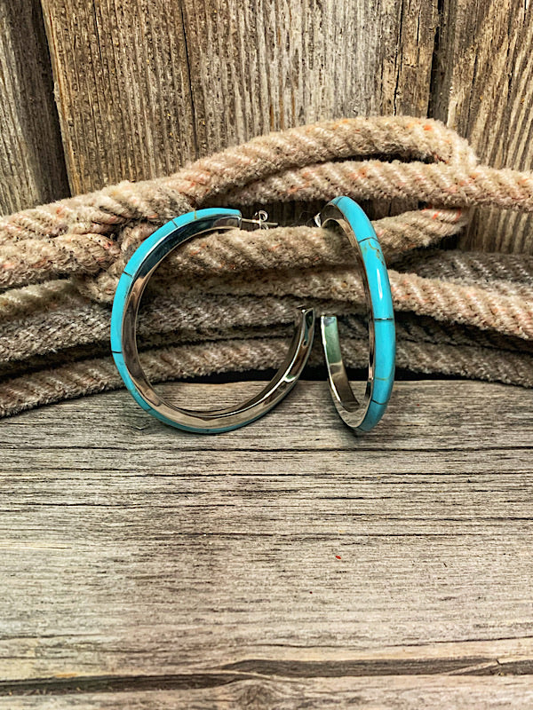The Calgary: Turquoise Hoops