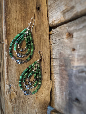 Spring Pastures: Indian Pearl Earrings