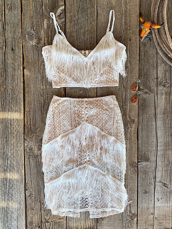 The Sleeping Beauty: Fringe Two-Piece Set