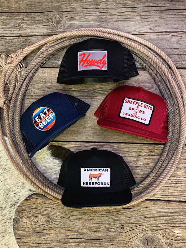 Punchy Patch Caps {Youth}