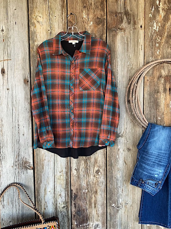 San Pedro: Plaid Button Up