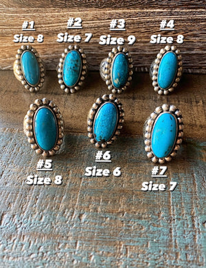 The Sloan: Turquoise Rings