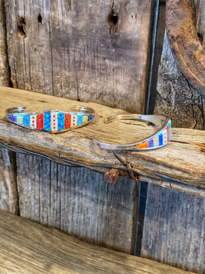 Colorful Inlaid Cuff