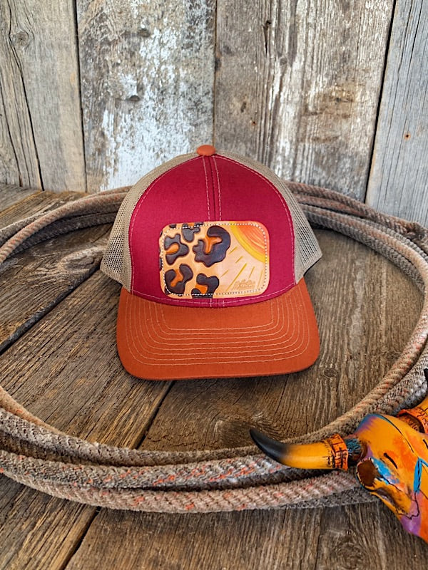 The Wild Cat: Leather Patch Cap