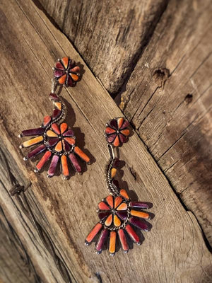 Zuni Spiny Oyster Earrings