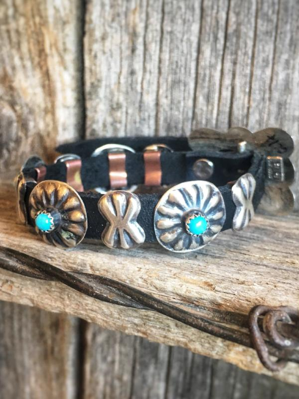 Straight Shooter: Concho Leather Bracelet