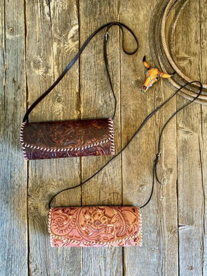 The Jennings: Tooled Leather Clutch