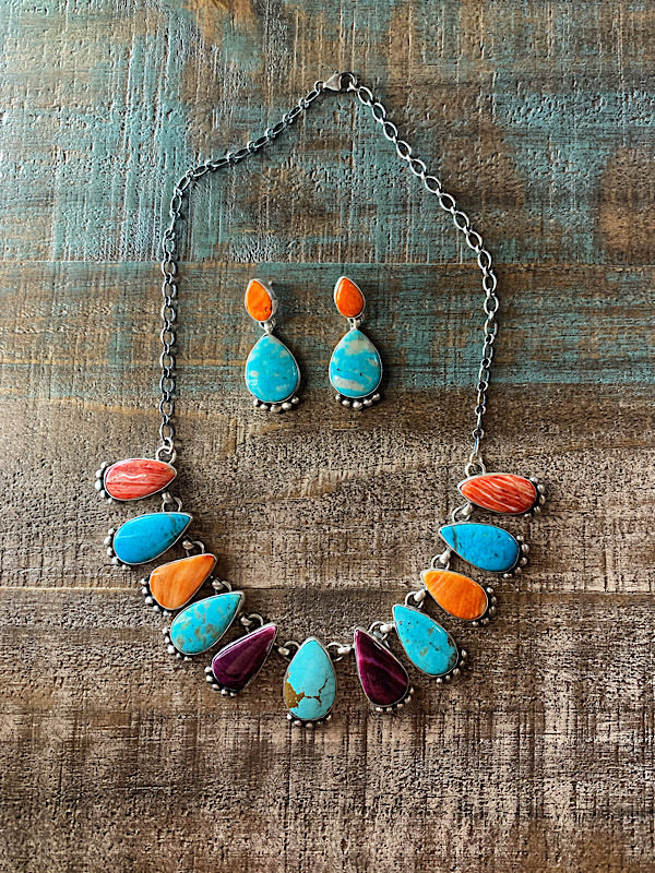 The Brazos: Necklace + Earrings Set