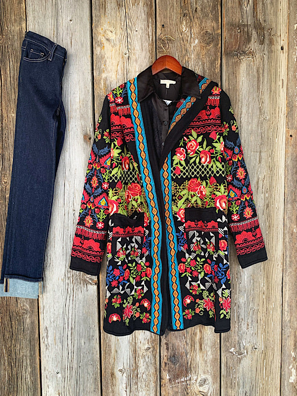 The Sun City: Embroidery Cardigan