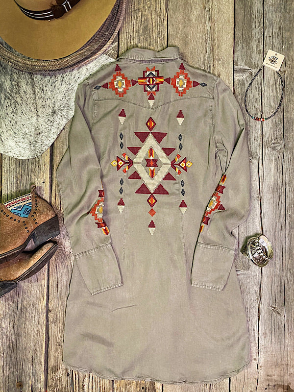 Sahara Sunset: Embroidered Dress