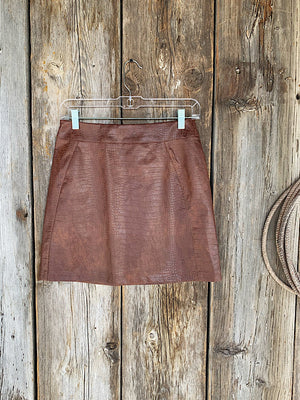 Probably, Maybe: Leather Skirt