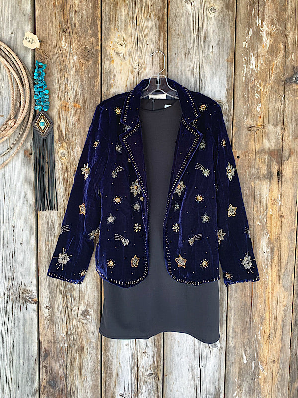 Shooting Star: Velvet Blazer