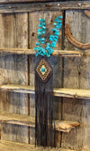 The Durango: Bisbee Turquoise + Beaded Embroider Necklace