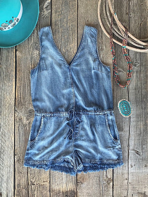 The Tumbleweed: Denim Romper