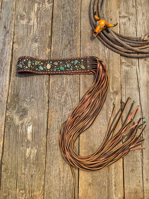 Storm Warning: Turquoise + Fringe Belt