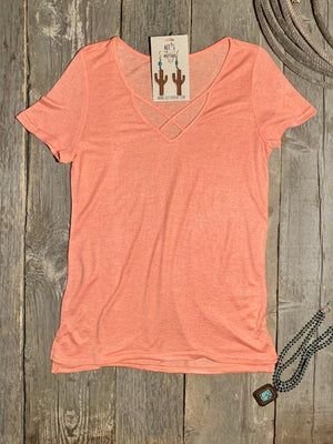 Orange Knitted Tee