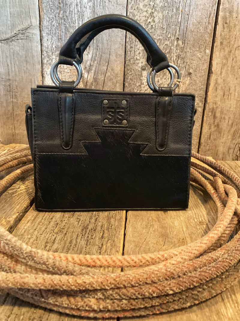 Harlow: Black Mini Satchel