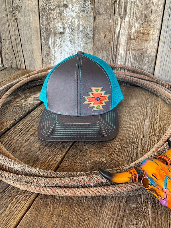 The Rodeo Trail: Leather Patch Cap