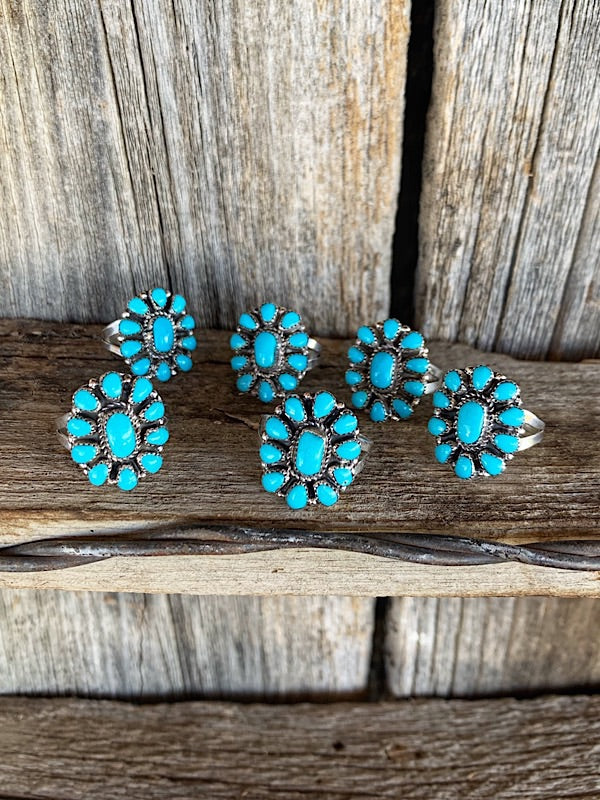 The Cold Springs: Turquoise Cluster Ring