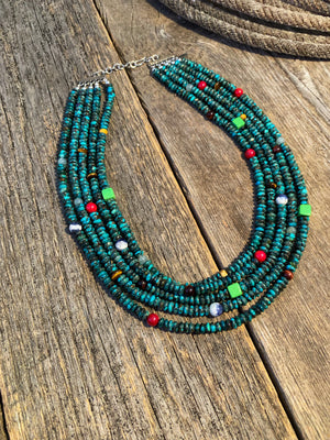 The Brazos: 5 Strand Necklace