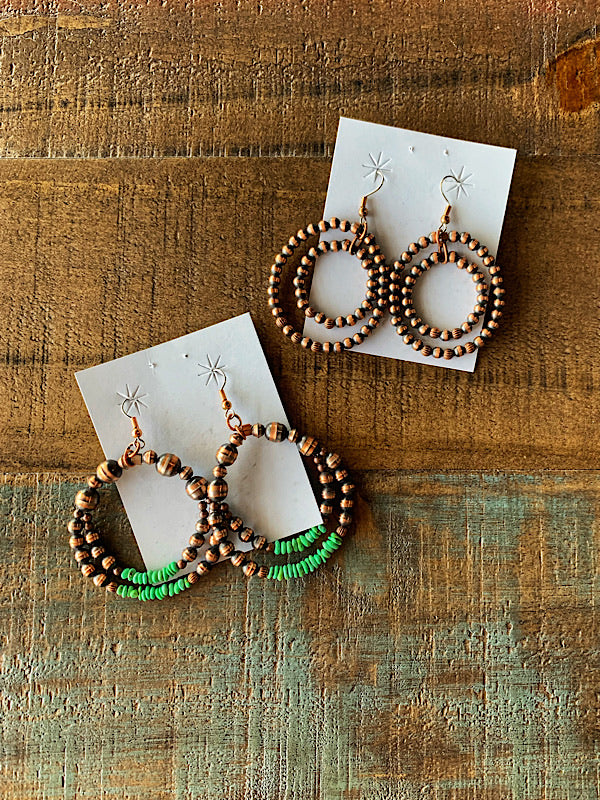 The Durham: Copper Earrings