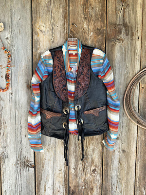 The Pecos: Leather Vest