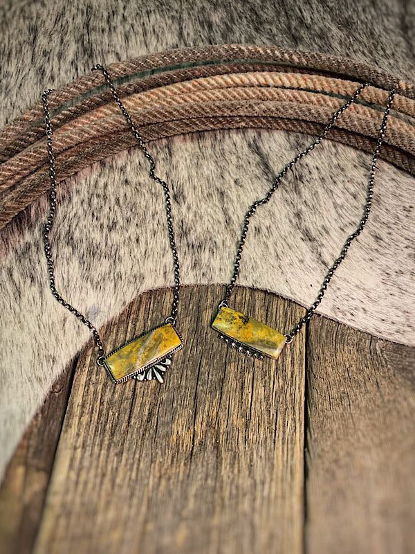 Bumble Bee: Bar Necklace