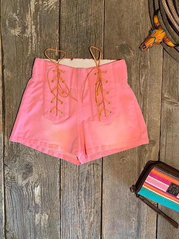 Whiskey River: Pink Denim Shorts