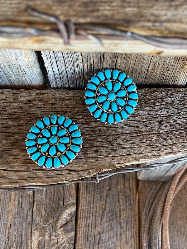 Turquoise Cluster Pins