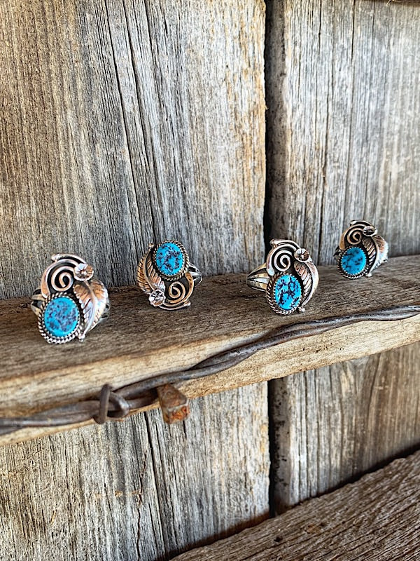 Twister: Turquoise Rings