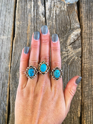 The Sage: Turquoise Rings