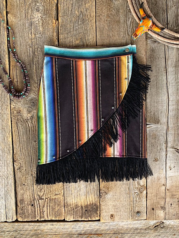 The Albuquerque: Wrap Skirt W/ Fringe
