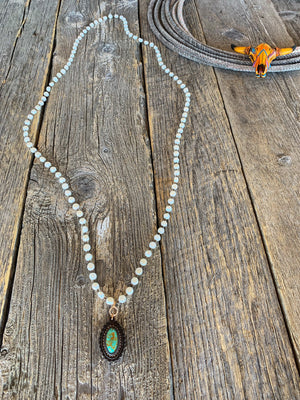 Pearls & Turquoise Necklace