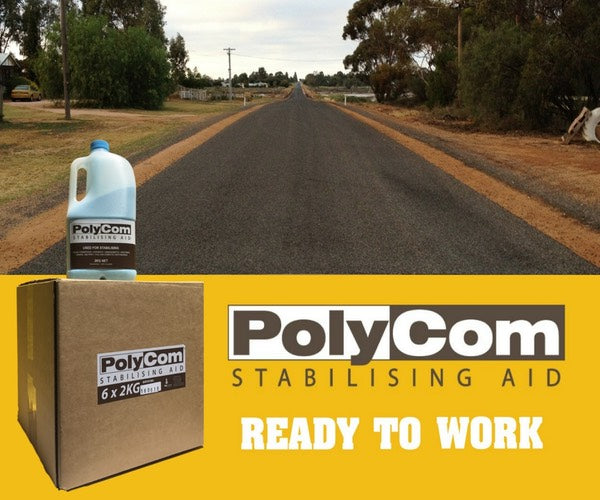 PolyCom Stabilising Aid Cutting Edge Pavement Stabilisation: Australia