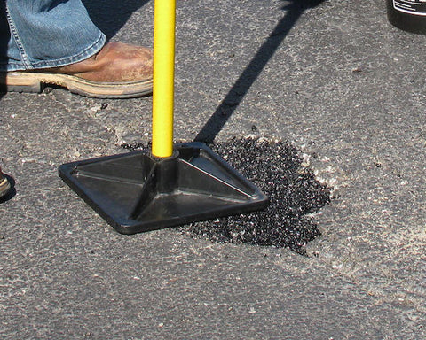 Open to traffic and cars immediately when using QPR bagged asphalt