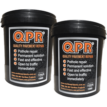 Blend surrounding pavement and fix with QPR pothole repair solution