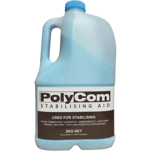 PolyCom Stabilising Aid | Soil Stabilisation | Dust Suppression | Domestic Use $800.00 $800.00 $3200.00 asphalt suppliers, bunnings, Car park asphalt repairs, civil contractors, Driveway repair, dust suppression, Earthco Projects, earthmovers, earthworks, Farm tracks, footpath, footpath repair, granitic sand, hardware, industrial jobs, Landscape supplies, Landscaping work, Lillydale toppings, Parks, path construction, pavement repair, pavements, paving base gravel, PolyCom, PolyCom Stabilising Aid, QPR ASPHALT, sandstone path, stabilisation, stabilising Soil Stabilisation Earthco Projects Store Quantity 1 Bottle Pack  Earthco Projects Store