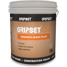 Gripset C26 Concrete crack filler - repair concrete fast. Delivered to your door. Supplied by Earthco projects