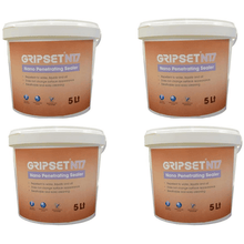 Gripset N17 5 Litre Pail | Solvent Free | Nano Technology | Waterproofing surfaces | Used on Kitchen and bathroom surfaces and more | Wet areas Masonry, Concrete, Timber, porous surfaces | Water repellant supplied by Earthco Projects