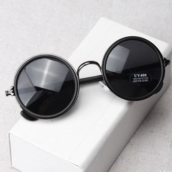 Free shipping glasses New Fashion glasses Women men Fashion retro  roundness colours Girls Sunglasses summer colors glasses