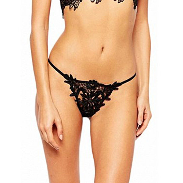 Sexy Lace Lady Briefs Lingerie Knickers G-string Thongs Panties Underwear BK