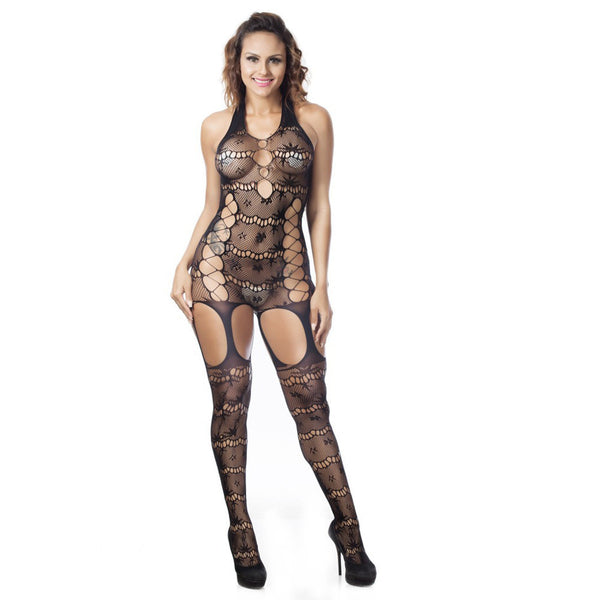 Sexy Women Sleeveless Lingerie Lace Underwear Sleepwear jumpsuits Conjoined Net