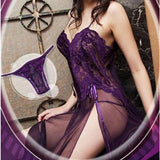 Women Lingerie Underwear Sleepwear Nightwear Dress G-String Temptation BK/L