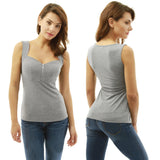 Women Ladies Sexy Casual Zipper Crop Tops T-shirt Sleeveless Tank Tops Blouse